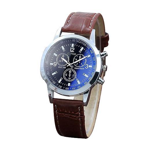 Oyedens Hombre Moda Reloj Belt Sport Quartz Hour Wrist Analog Watch Reloj creativos Reloj Impermeable Reloj de Pulsera D: Amazon.es: Relojes