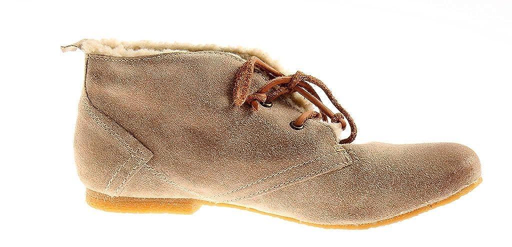 BULLBOXER Chaussures femme femme femme femmes Bottine 1576 hiver à doublure beigeB078S9KCQDParent 00df7c