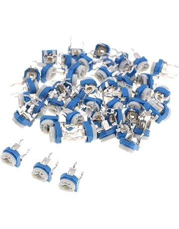 Couleur: Bleu Garciaria Potentiom/ètre multitour de pr/écision 3590S Potentiom/ètre de r/ésistance r/églable /à 10 Anneaux bobin/ée Variable Pot Multi-Tours 50k Ohm
