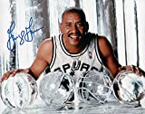 George Gervin Signed Autographed 8X10 Photo Spurs with Ice Basketballs w/COA