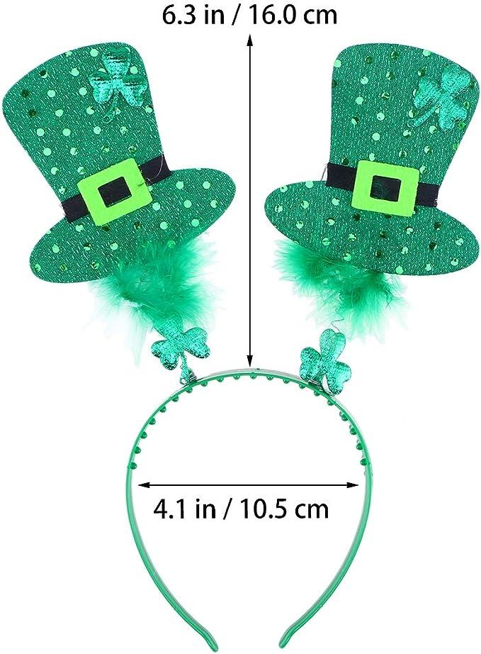 Amosfun Diadema del Día de San Patricio Irlandés Trébol Leprechaun ...