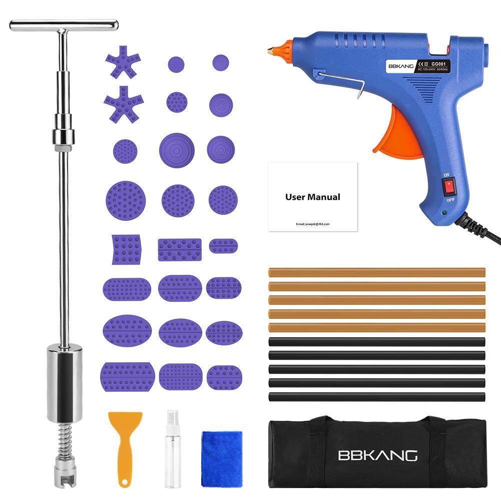 BBKANG Paintless Dent Repair Tools Kit - 42Pcs Car Dent Removal 2-in-1 Slide Hamer T-bar Puller Tool for Small Dent Door Ding Repair