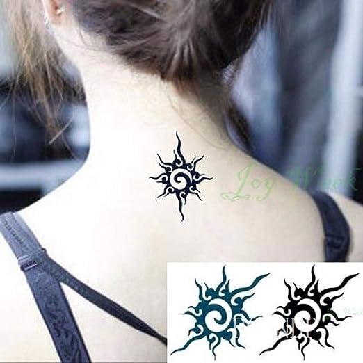 ljmljm 6 Piezas Etiqueta engomada del Tatuaje a Prueba de Agua Sun ...