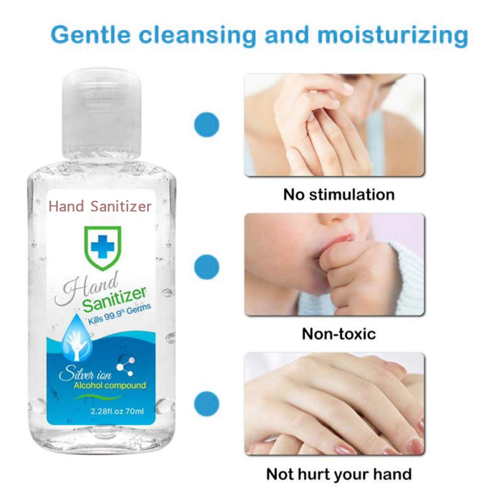 Non-Rinse Hand Sanitizer Gel Rinse-Free Hygienic Gel Mancai 70ml Hand Sanitizer Gel to Go No Need for Water /& Soap Instant Hand Refreshing Gel,Hand Cleanser Gel Effective 99.99/%