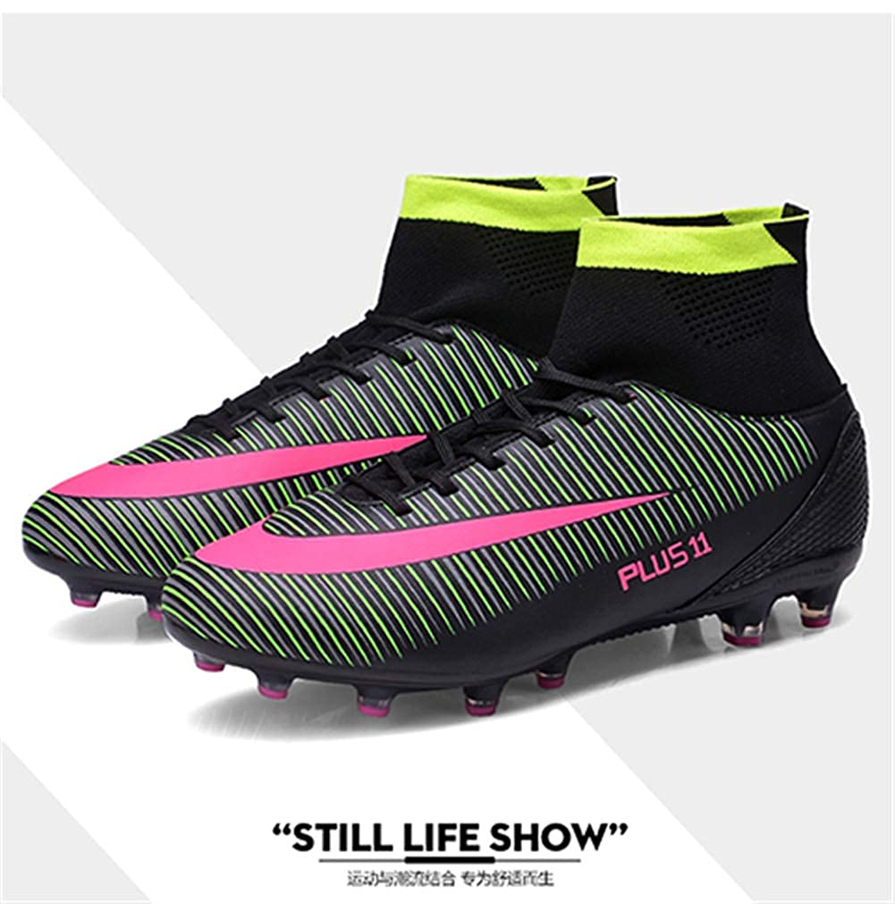 fcc94e8a0 Amazon.com | FCSHOES Men's Kids Ankle High Tops Soccer Cleats, Boys Football  Boots Turf Football Shoes Sneakers Indoor Turf Futsal | Football