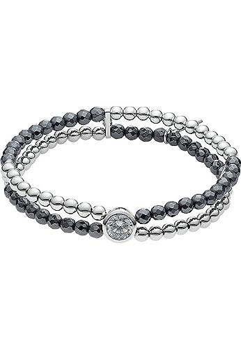 Laufschuhe günstiger Preis Neupreis JETTE Silver Damen-Armband Summer Night 925er Silber 1 Zirkonia 42  Glasstein One Size, silber/anthrazit