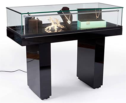 Glass Display Cabinet For Museum, Showcase With Hydraulic Lift System, LED  Lights, Ships