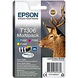 Epson original - Epson WorkForce WF-3540 DTWF (T1306 / C13T13064012) - 3 x Tintenpatrone MultiPack (cyan, magenta, gelb)