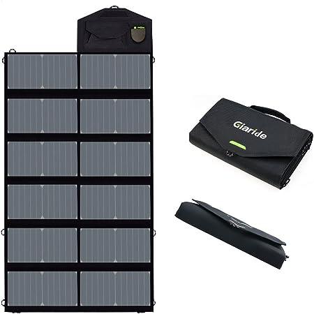 GIARIDE 21W 18V Portable Foldable Solar Charger 5V USB 18V DC Output Sunp.. New