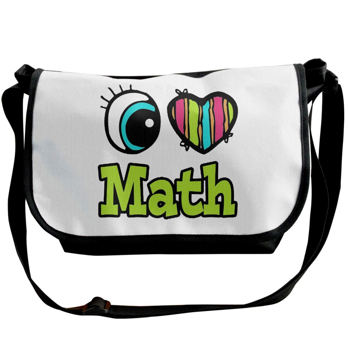 Futong Huaxia I Love Math Equation Travel Messenger Bags Handbag Shoulder Bag Crossbody Bag Unisex