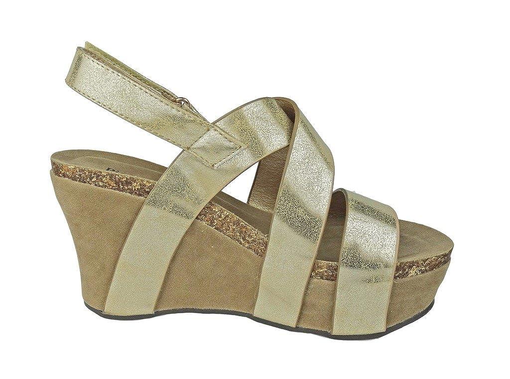 Pierre Dumas Women's Hester-5 Vegan Sandals Leather Strappy Wedge Sandals Vegan B01N0W726J Platform ca1b5d