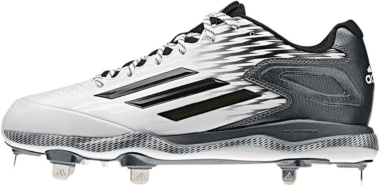 premium selection 4b47f 98311 Adidas PowerAlley 3.0 Mens Baseball Cleat 8 White-Black-Carbon Met
