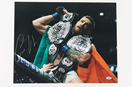 b38840ba9bb Image Unavailable. Image not available for. Color  Conor McGregor Signed UFC  ...