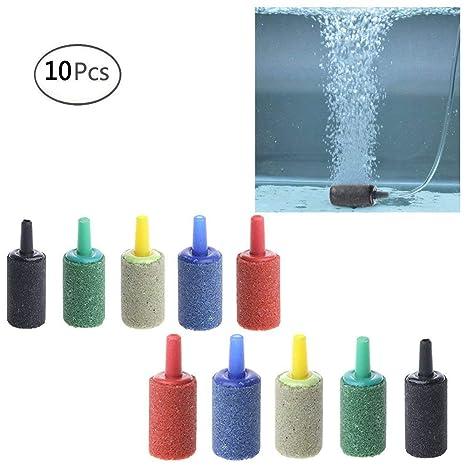 VDK - Juego de 10 unidades de difusor de aireación para acuario y ...