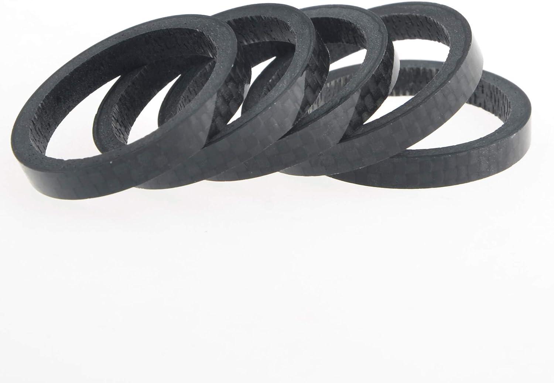 Juego de 5 Arandelas de 5 mm para Manillar de Bicicleta Fibra de Carbono Yaruijia