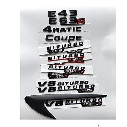 """/"""" Letters Trunk Embl Badge Sticker for Mercedes Benz Flat /"""" V8 BITURBO 4 MATIC"""