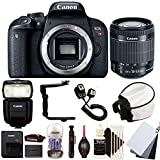 Cheap Canon EOS Rebel T7i 24.2MP Digital SLR Camera with 18-55mm EF-IS STM Lens , 430EX lll Non RT Flash and Accessory Bundle