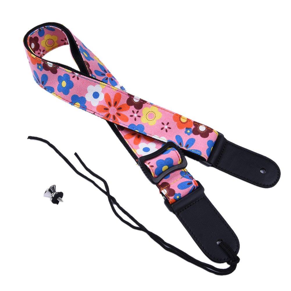 Romantic Flower Ukulele Neck Strap Adjustable 75-130cm/29.53-51.18inch - Yellow Per YDYQ0135YE0ZZ001|echodisturb