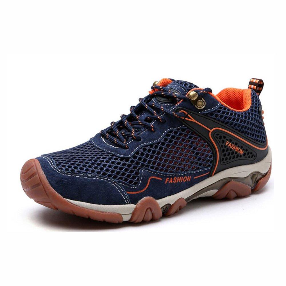 YaXuan Zapatos de Senderismo al Aire Libre, Zapatos Deportivos Transpirables de Malla de Verano nuevos para Hombres, Zapatillas de Deporte Antideslizantes, (Color : UN, Tamaño : 39) 39|UN