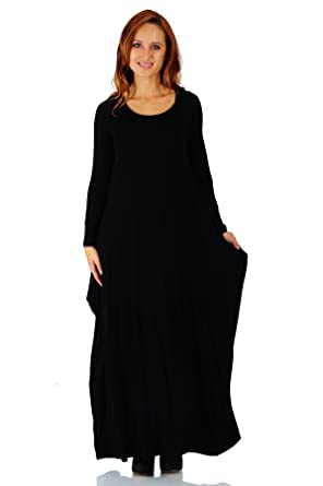 0f67ed893d4 Simply Ravishing Rayon Span Maxi Boho Harem Long Sleeve Dress (Size ...