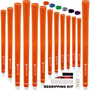 SAPLIZE Golf Grips, Standard/Midsize, 13 Grips with 15 Tapes Or 13 Grips with Full Regripping Kit, Anti-Slip R