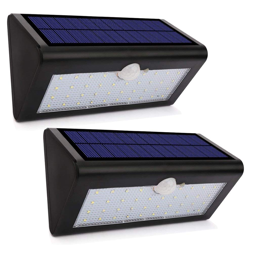 Solar Lights Outdoor Waterproof, EnerEco Wireless Solar Power Motion Sensor Light with 38 LED Wall Mounted Security Light for Garden Lawn Fence Path Stairs Home Driveway Security Outside Wall
