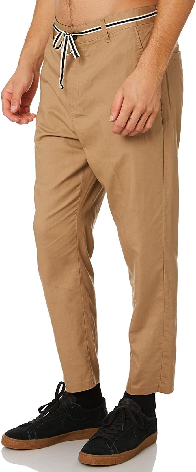 Zanerobe black jumpa chino cotton linen pants 36 mens NEW