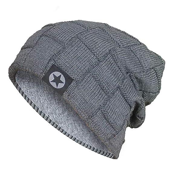 Acexy Cappello Caldo di Lana Invernale Lavorato a Maglia Berretto Morbido  Aderente Morbido Elasticizzato Berretto Skully 158a5278f5a0