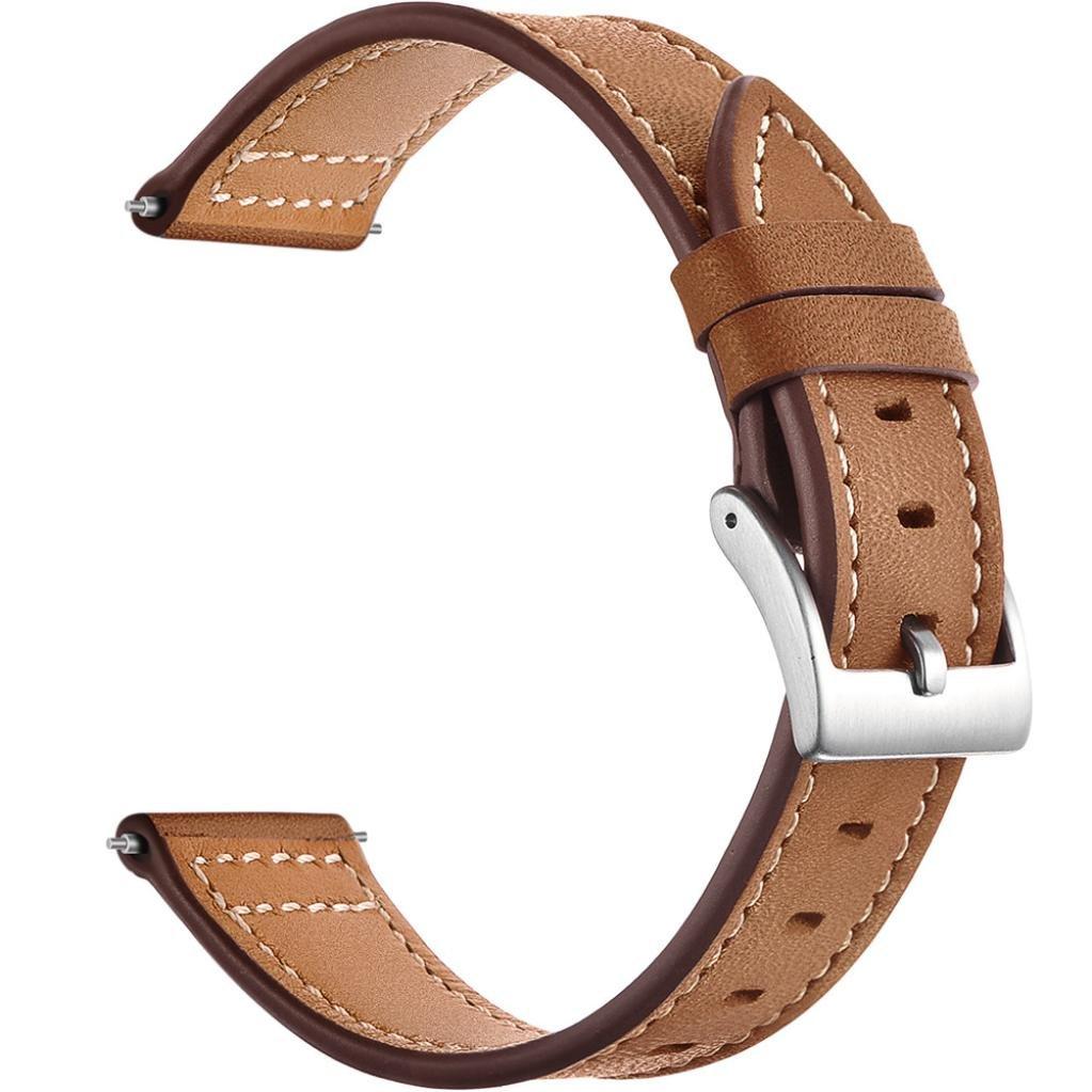JpoqW Xiaomi huami Amazfit Bip Youth Watch時計バンド本革20 mm交換用腕時計ストラップレザー  ブラウン B07FCJY9H6