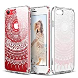 iPhone 7 Case, ESR Totem Henna Mandala Floral Pattern Design with Soft TPU Bumper+Hard PC Back Cover for 4.7