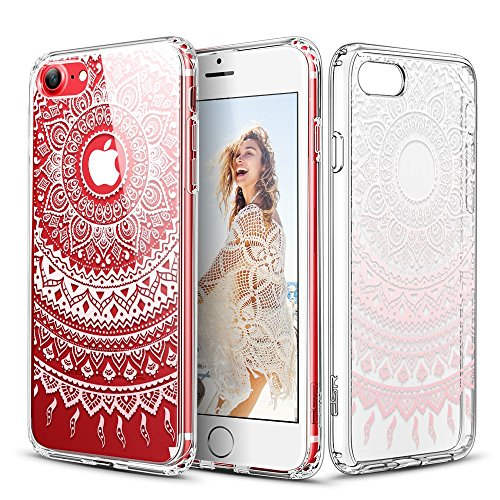 Pink Electronics (iPhone 7 Case, ESR Floral Flower Pattern Cover for Girls/Women [Anti Scratch PC Back + Soft Bumper] for iPhone 7 4.7