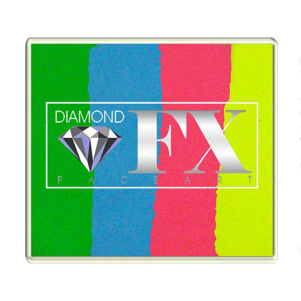 Diamond FX 50g Split Cake Face Paint ~ Happy Birthday (RS50-98)