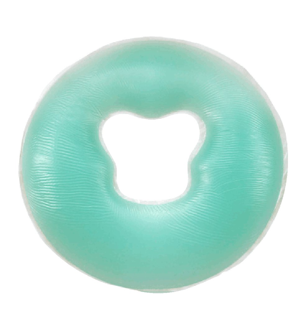 O Type Head Shape Silicone Pillow SPA Pillow Massage Face Pillow [Green]