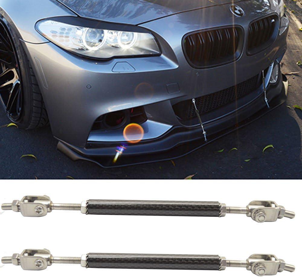 "3.4/"" Silver Carbon Bumper Lip Diffuser Struts Rod Bar Support for Ford Car SUV"