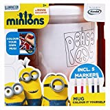 Invero Childrens Kids Minions Mug Cup Colour Your Own Plastic Mugs Cups ideal for Christmas or Gift
