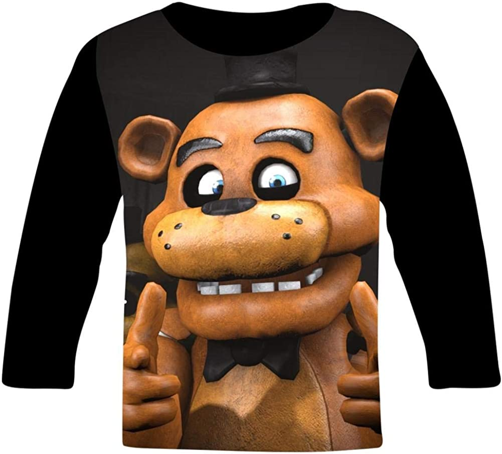 Night-mare Bear Fre-d-dy Night 3D Print Graphic Womens T-Shirts,Pullover Tees