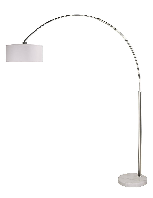 Amazon white floor lamp nursery - Arch Floor Lamp Stainless Steel Marble Base White Linen Shade Modern Contemporary 6938wh Arc Floor Lamp Amazon Com