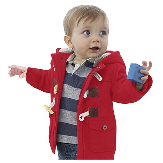 e022b8a3ed16 Amazon.com  BSGSH Baby Toddler Boys Classic Winter Trench Pea Coat ...