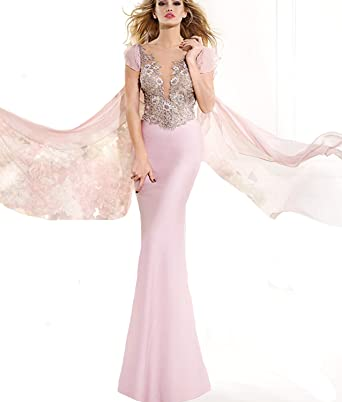 QUEEN CLUB New Fashion Cap Sleeve Short Sexy V Neck Mermaid Prom Dresses On Sale