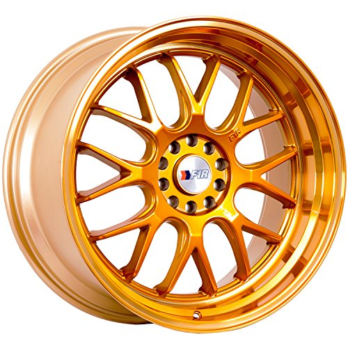 18×8.5 F1R F21 Gold Rim Offset(38) Lug(5×100/5×114.3) Bore(73.1) 1 Wheel — F211885G38