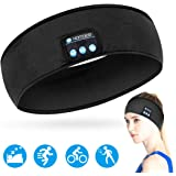Homder Sleep Headphones Bluetooth Headband Stereo Wirless Bluetooth 5.0 Headset Unisex Sport Sweatband for Working Out, Exercising, Skating, Snowboarding, Hiking