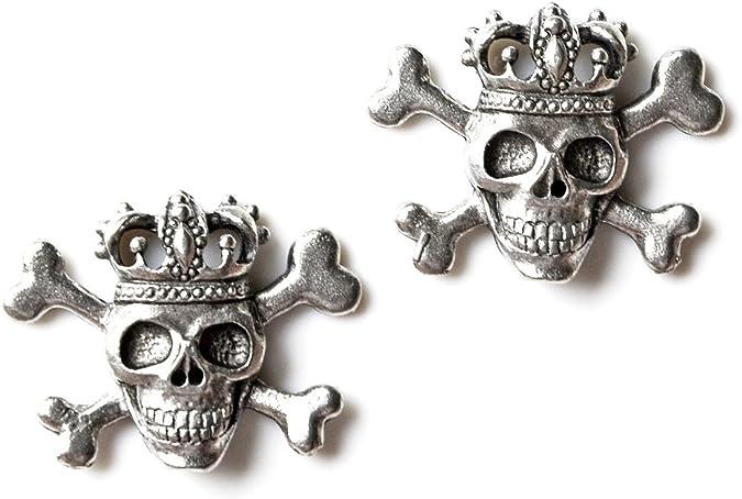 Quality Handcrafts Guaranteed Skull Tuxedo Studs