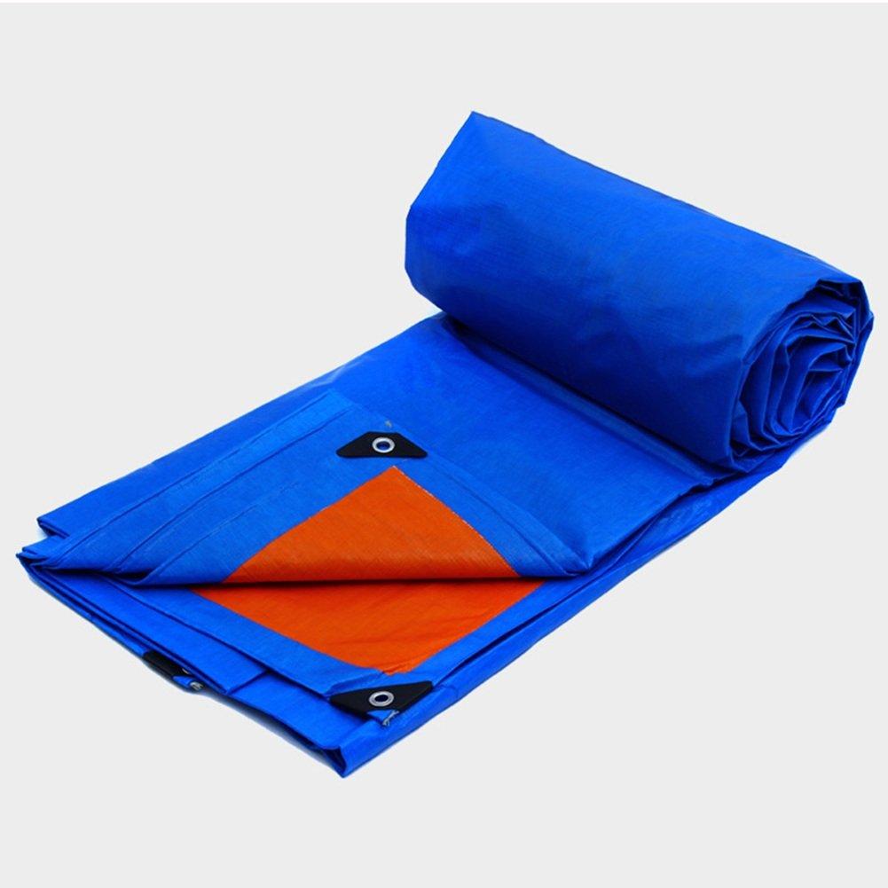 KKCF オーニング オーニング サンシェード オーニングシェード タープ  オーニング 日よけ PE 厚い 雨布 防水 日焼け止め シェード リノリウム プラスチック トラック アウトドア、175g/m²、厚さ0.32mm、2色展開 (色 : Blue, サイズ さいず : 10x12m) B07FX3ZVZQ 10x12m|Blue Blue 10x12m
