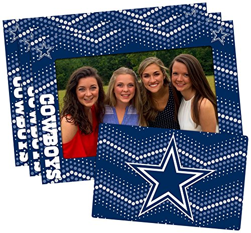 NFL Dallas Cowboys Magnetic Frame & Bonus Magnet, 3 Pack, Blue, 4-inch by 6-inch Dallas Cowboys Picture Frame