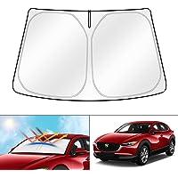 kotesoto Car Sun Shade Compatible for Mazda cx-30 2019 2020 2021 Front Window Anti-UV Sun Protection Retractable…
