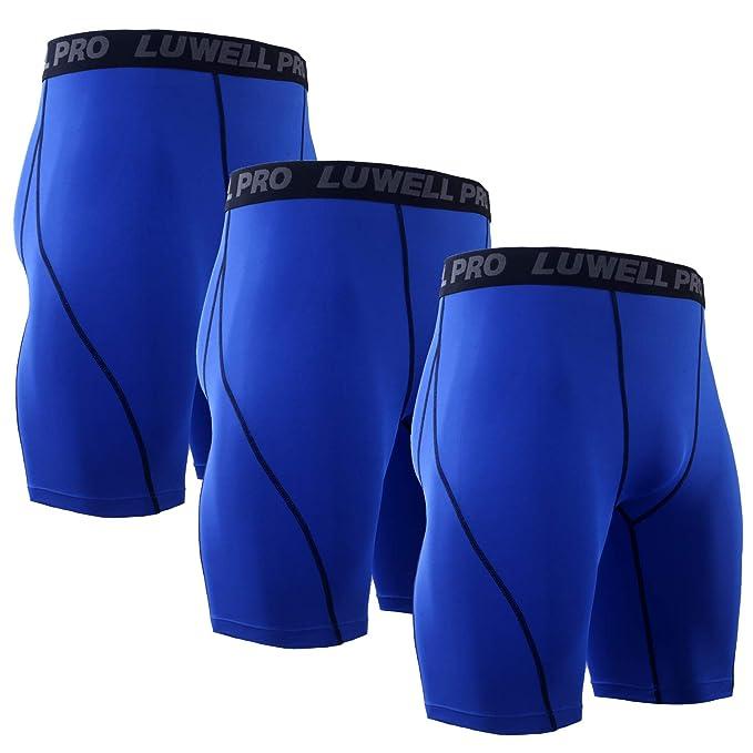 c196af298100 LUWELL PRO 3 Piezas Mallas Hombre de Secado Rápido para Pantalon ...