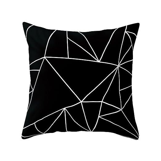 Sukisuki - Funda de Cojín Cuadrada geométrica de Melocotón ...
