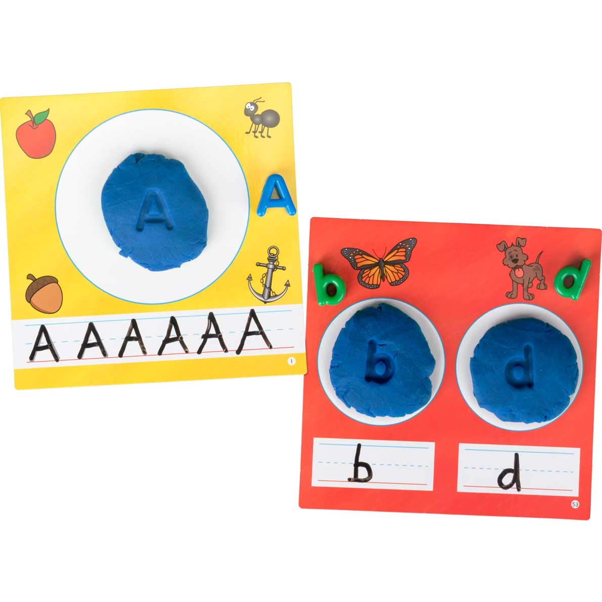 Really Good Stuff Letter Recognition Beads and Dough Kit