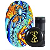 INDO BOARD Original Training Package Balance Board for Fitness Training and Fun - Comes in 11 Fun Color Choices