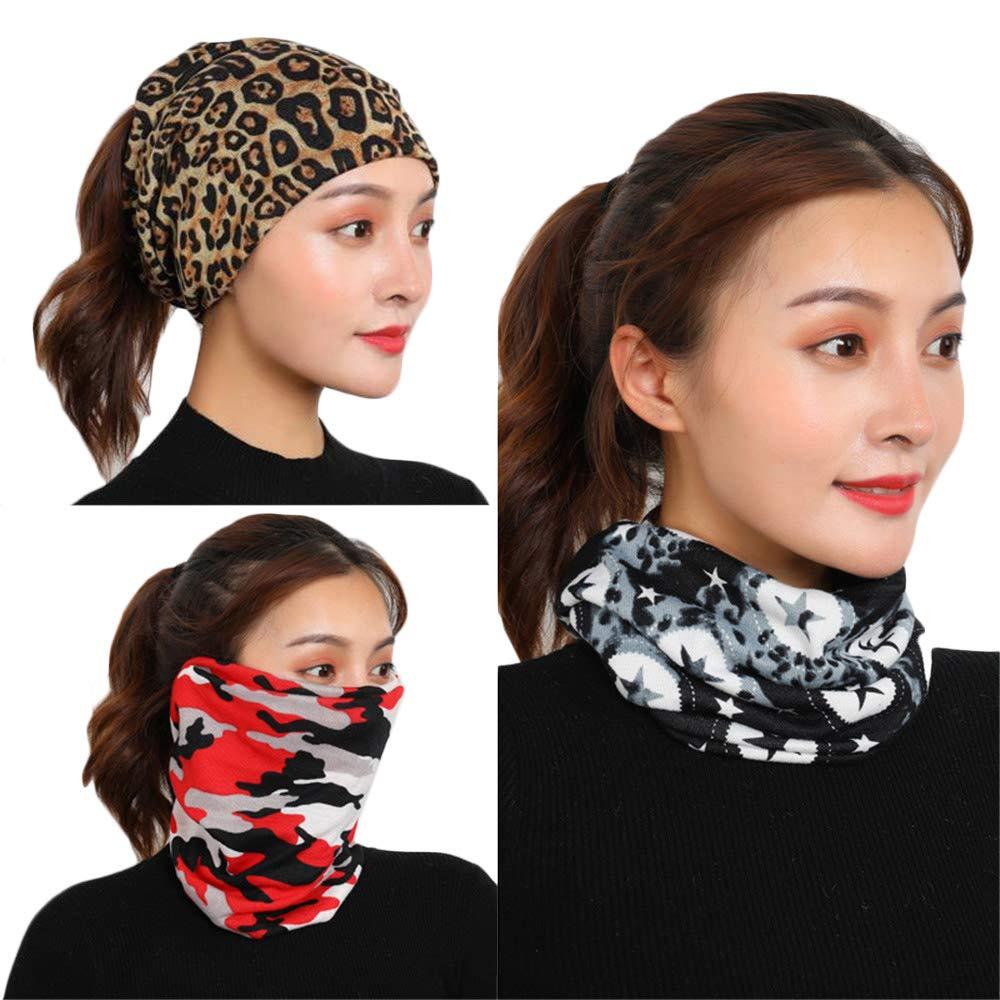 pa/ñuelos pasamonta/ñas m/áscaras y m/ás X-BLTU 3PCS 12 en 1 Vers/átil Fibra Deportes y sombreros casuales Se pueden usar como polainas para el cuello